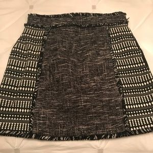 French Connection high-waisted textured skirt